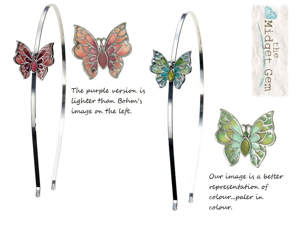 The Bohm Picturesque Butterfly Hair Band