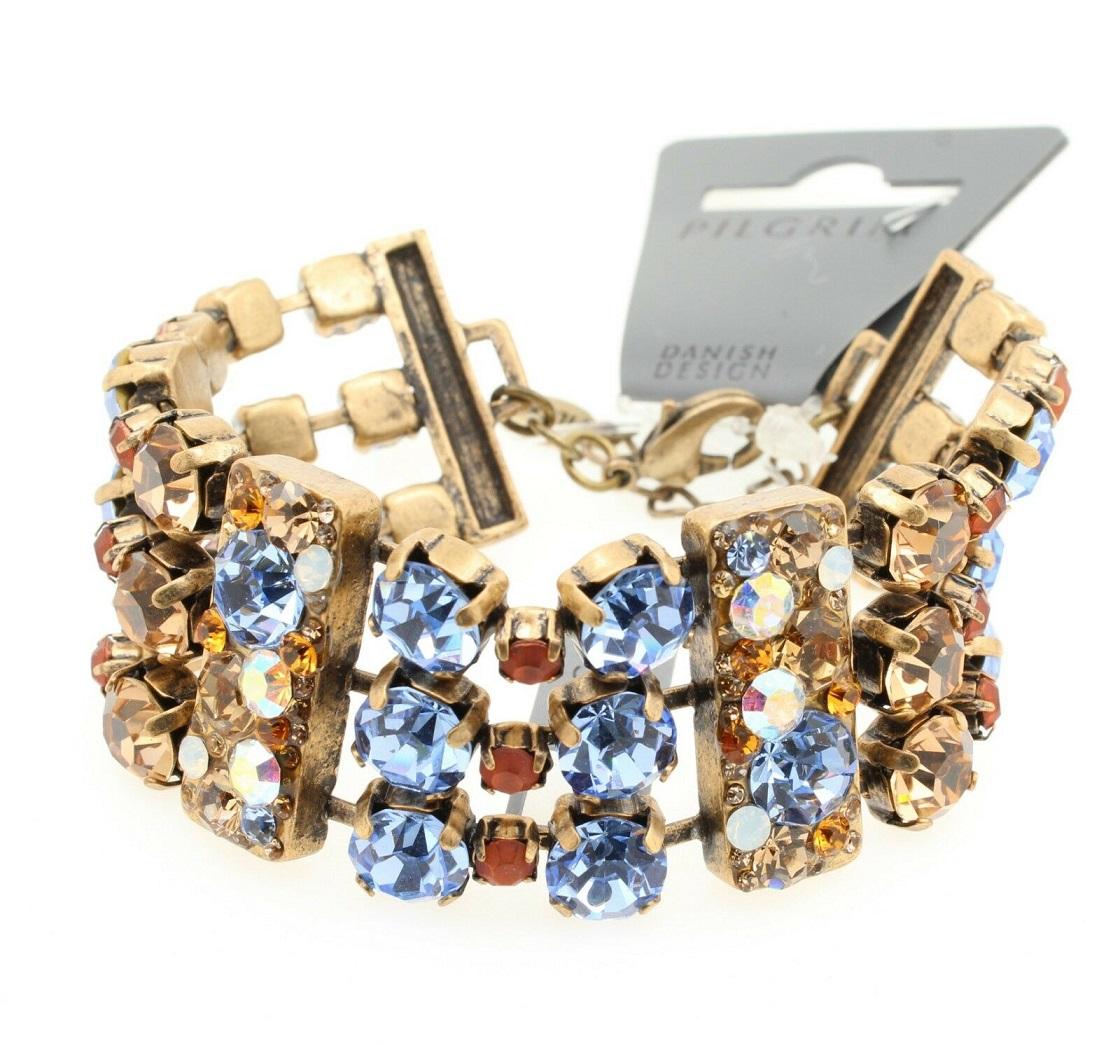 PILGRIM - Danish Delight - Bracelet - Gold Plate/Multi-Colour BNWT