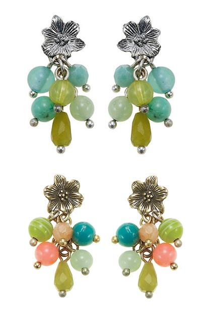 The Bohm Paradise Flower & Bead Cascade Earrings