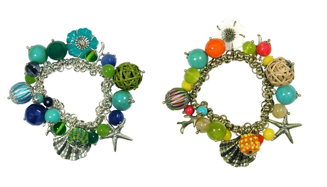 The Bohm Beach Comber Stretch Charm Bracelet