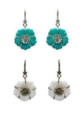 Beach Comber Shell Flower Earrings - Bohm