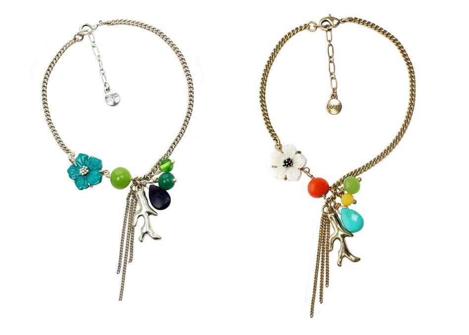 The Bohm Beach Comber Charm Cascade Ankle Chain
