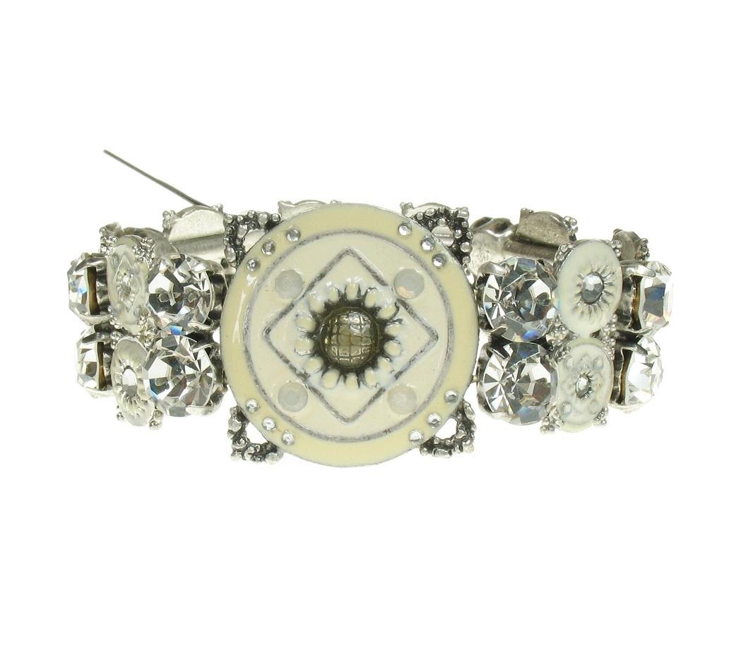 PILGRIM - EASTERN ESSENCE - Bracelet - Silver Plate & Whites/Clear  BNWT
