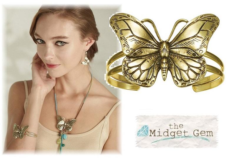 The Bohm Butterfly Romance Cuff Bracelet - Gold