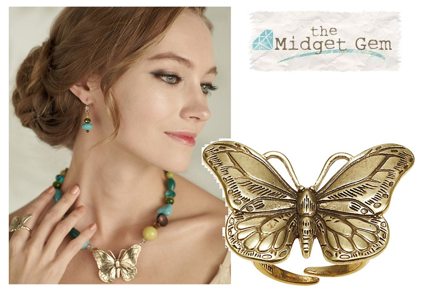 The Bohm Butterfly Romance Adjustable Ring - Gold