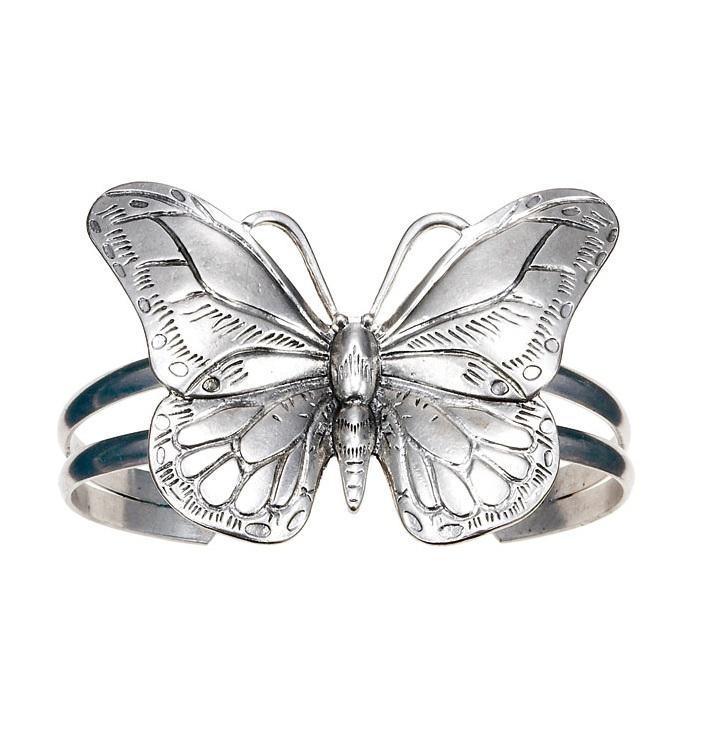 The Bohm Butterfly Romance Cuff Bracelet - Silver