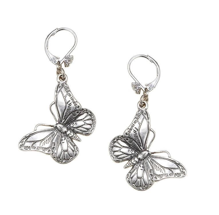 Butterfly Romance BUTTERFLY Drop Earrings - BOHM - Silver