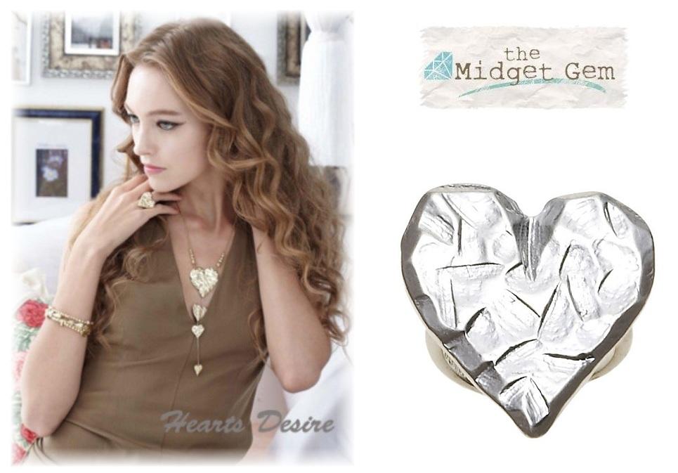 Bohm Hearts Desire Adjustable Ring - Silver Plate