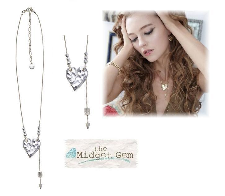 Bohm Hearts Desire Pendant Necklace - Silver Plate