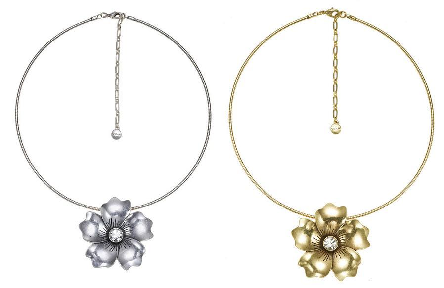 Bohm Pretty Petals Collar Single Pendant Necklace