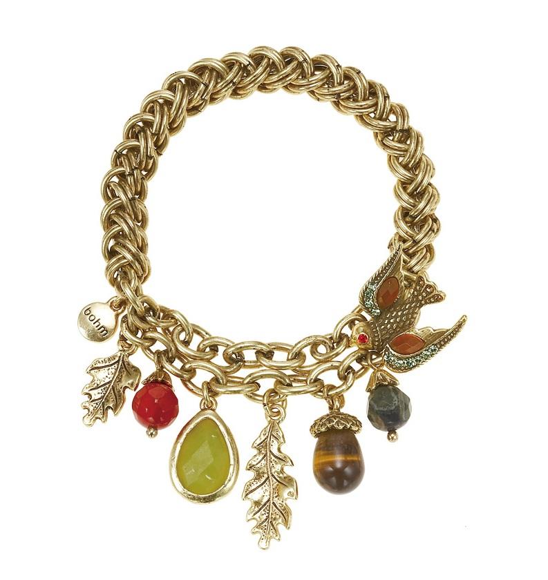 The Bohm - Autumn Ray - Multi-Charm Bracelet - Gold Plate