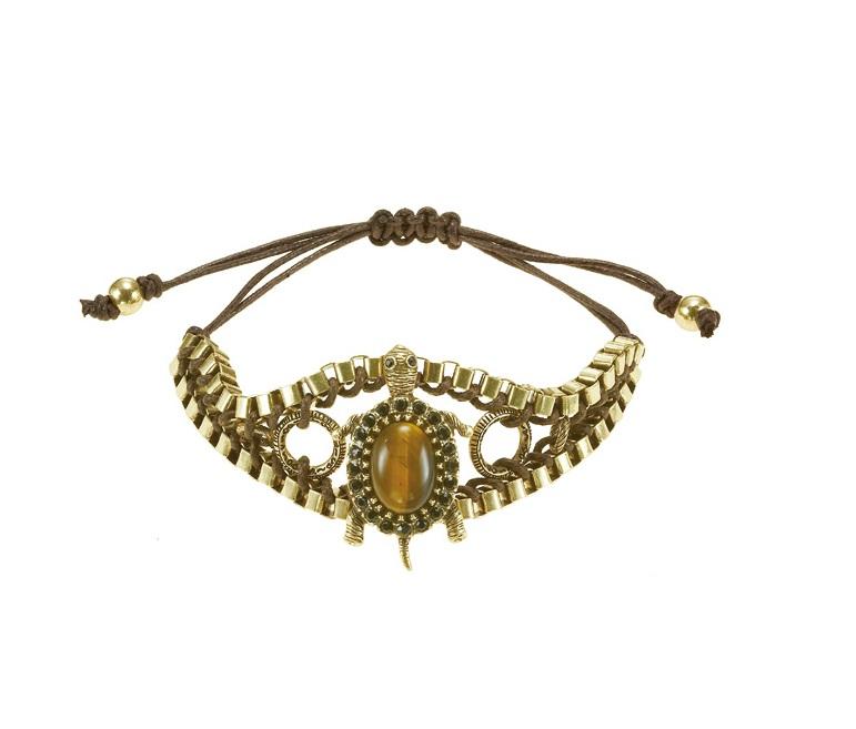 The Bohm - TURTLE Cosmo Sense - Adjustable Bracelet - Gold Plate