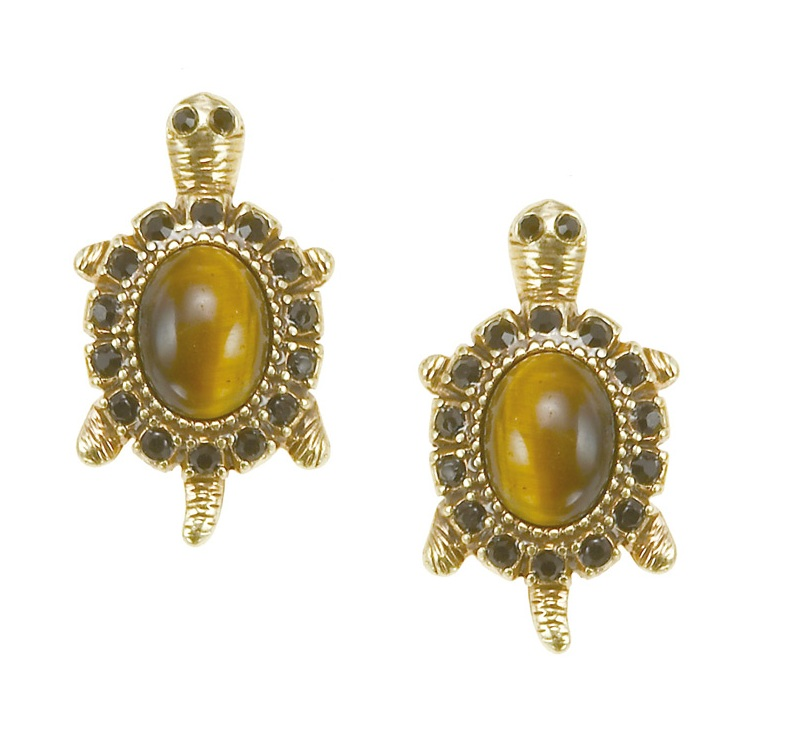 The Bohm - TURTLE Cosmo Sense - Stud Earrings - Gold Plate