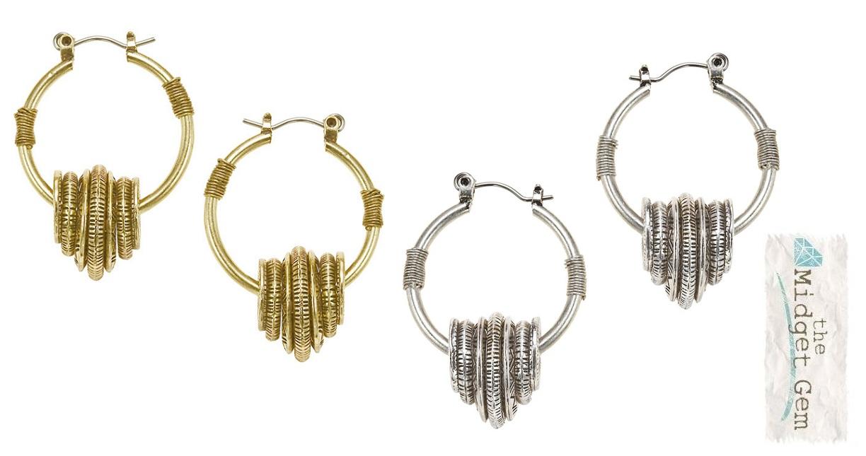 The Bohm - Labyrinth - Hoop Earrings
