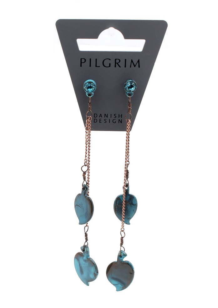 PILGRIM - Patina - Earrings Style 3 - Fired Blue/Copper BNWT
