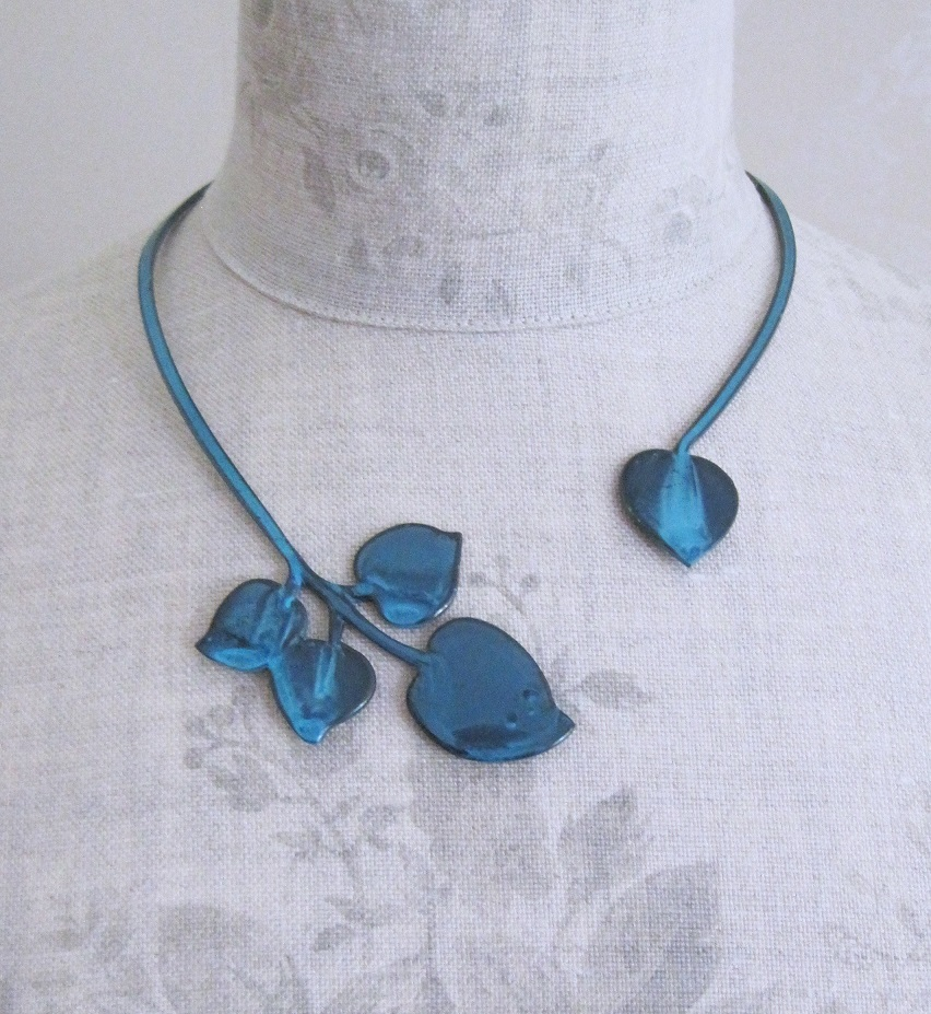 PILGRIM - Patina - Necklace Collar - Fired Blue/Copper BNWT