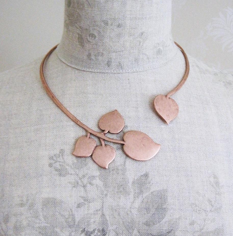 PILGRIM - Patina - Necklace Collar - Copper Plate BNWT