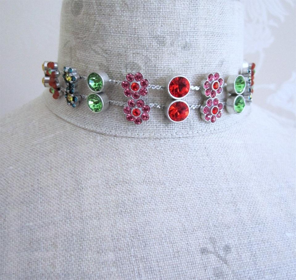 PILGRIM - Flower Jewels - Collar Necklace - Multi Swarovski/Silver Plate BNWT
