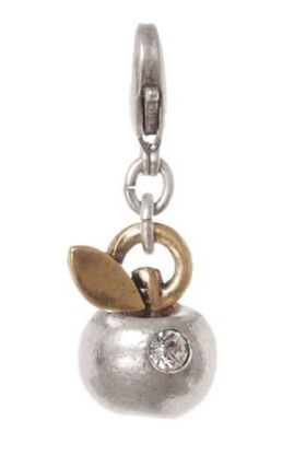 A & C Apple Charm Mixed Gold & Silver Plate