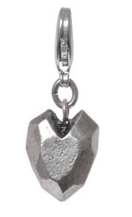Heart Charm - Silver Plate - A & C - BNWT