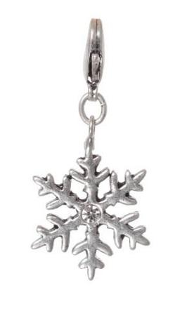 A & C Swarovski Crystal 'Winter Dream' Snowflake Charm Silver Plate