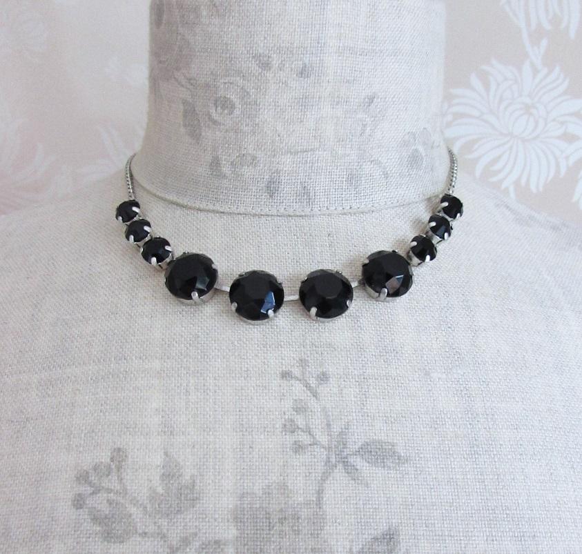PILGRIM - Sparkling Rocks - All-Round Necklace - Silver/Black BNWT