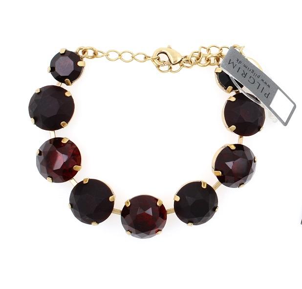 PILGRIM - Sparkling Rocks - Rock Bracelet - Gold/Red BNWT