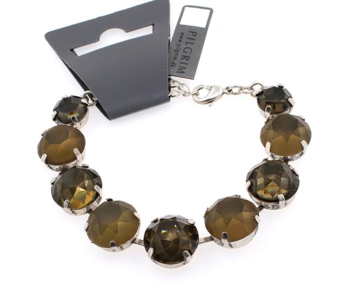 PILGRIM - Sparkling Rocks - Rock Bracelet - Silver/Grey BNWT