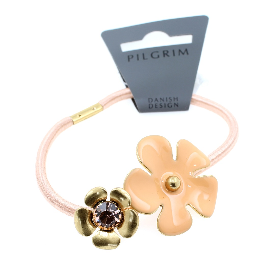 PILGRIM - Bell Flower - Hair Accessory/Elastic - Gold/Peach BNWT