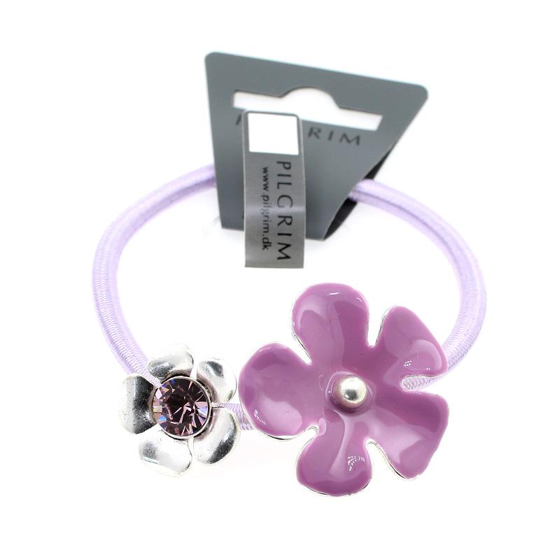 PILGRIM - Bell Flower - Hair Accessory/Elastic - Silver/Lilac BNWT