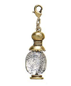 PILGRIM - DEFECT - Perfume Bottle Charm - Clear/Gold Plate BNWT
