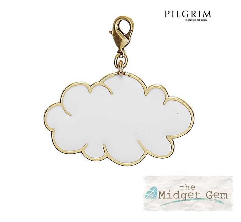 PILGRIM - Cloud Charm - White/Gold Plate BNWT