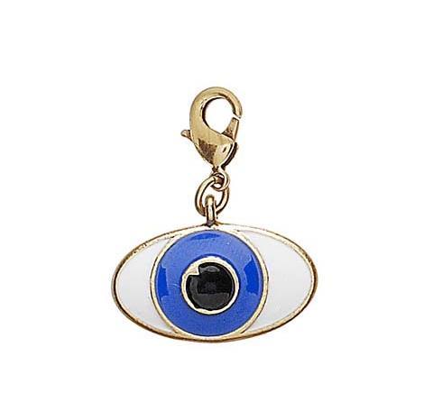 PILGRIM - Evil Eye Charm - Blue/White/Gold Plate BNWT