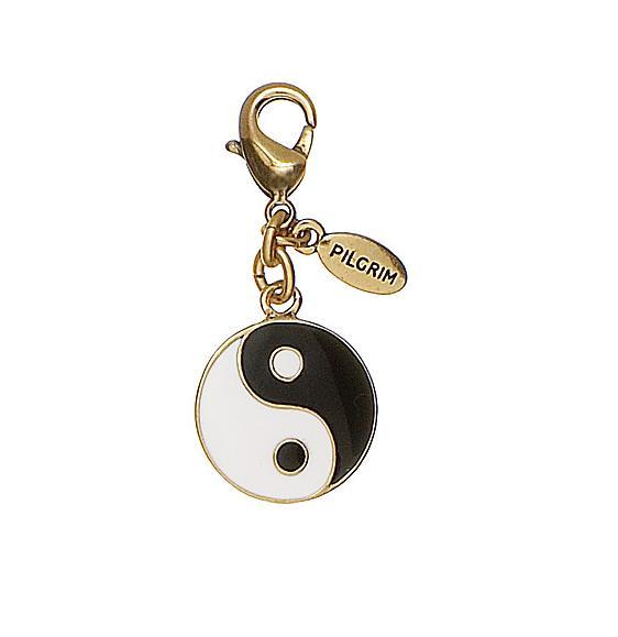 PILGRIM - Yin & Yang Charm - Black/White/Gold Plate BNWT