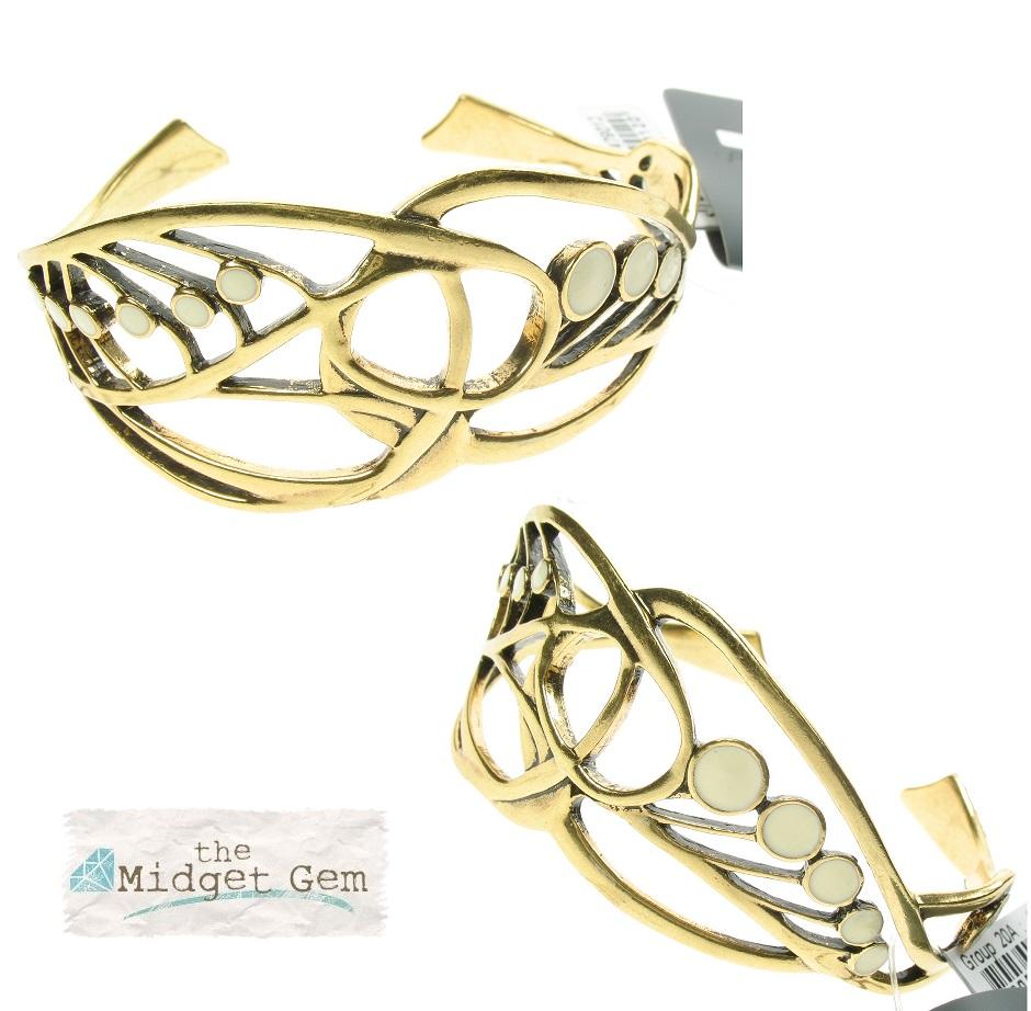 PILGRIM - Nouveau - Sinuous Wrist Cuff Gold/Cream BNWT
