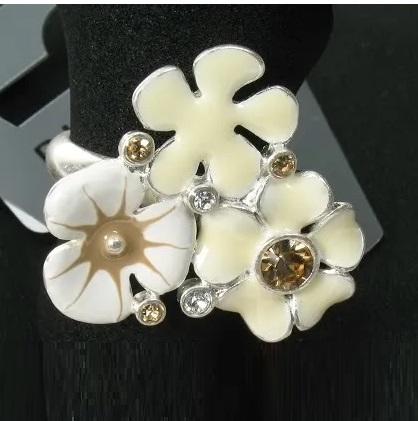 PILGRIM - FAVOURITES Adjustable Ring White & Silver BNWT