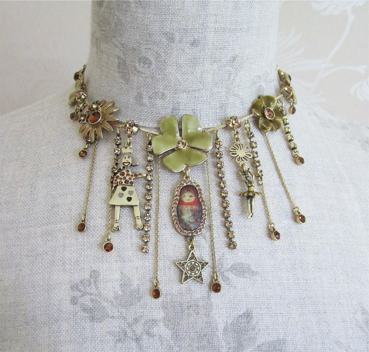 PILGRIM - FAVOURITES Elaborate Necklace Brown & Gold BNWT