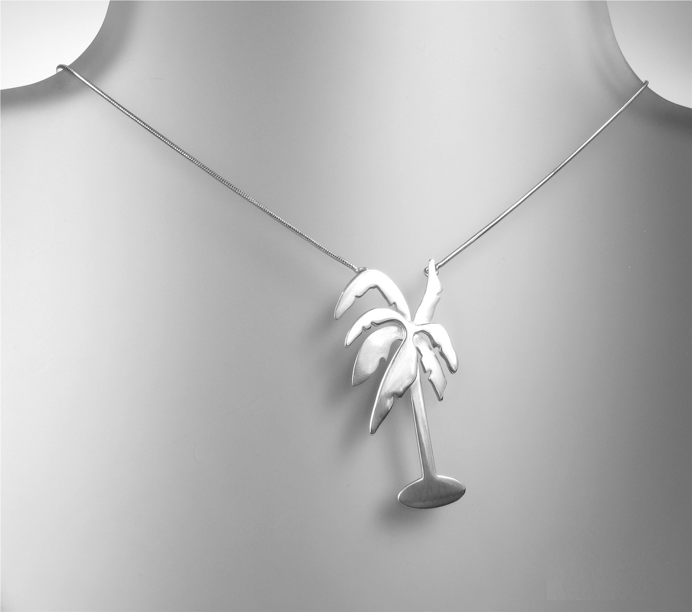 PILGRIM+ Necklace - Sterling 925 Silver Palm Tree Necklace BNWT Limited Edition