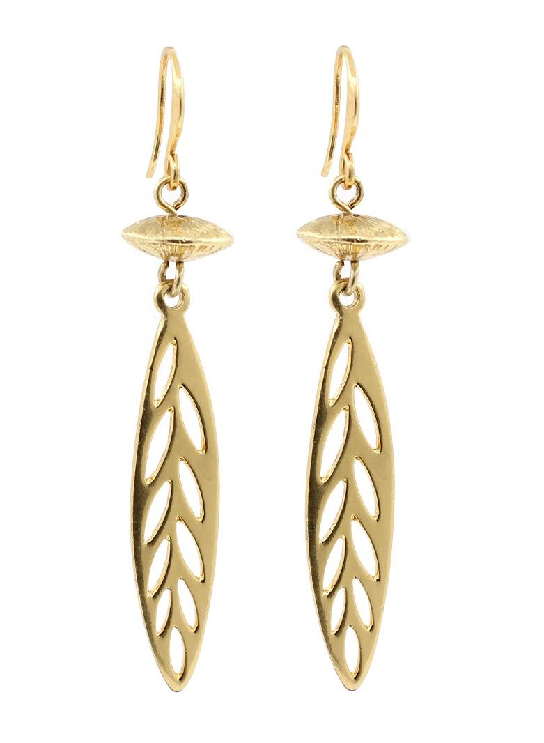PILGRIM - River Poetry - Disc & Leaf Earrings - Gold Plate BNWT