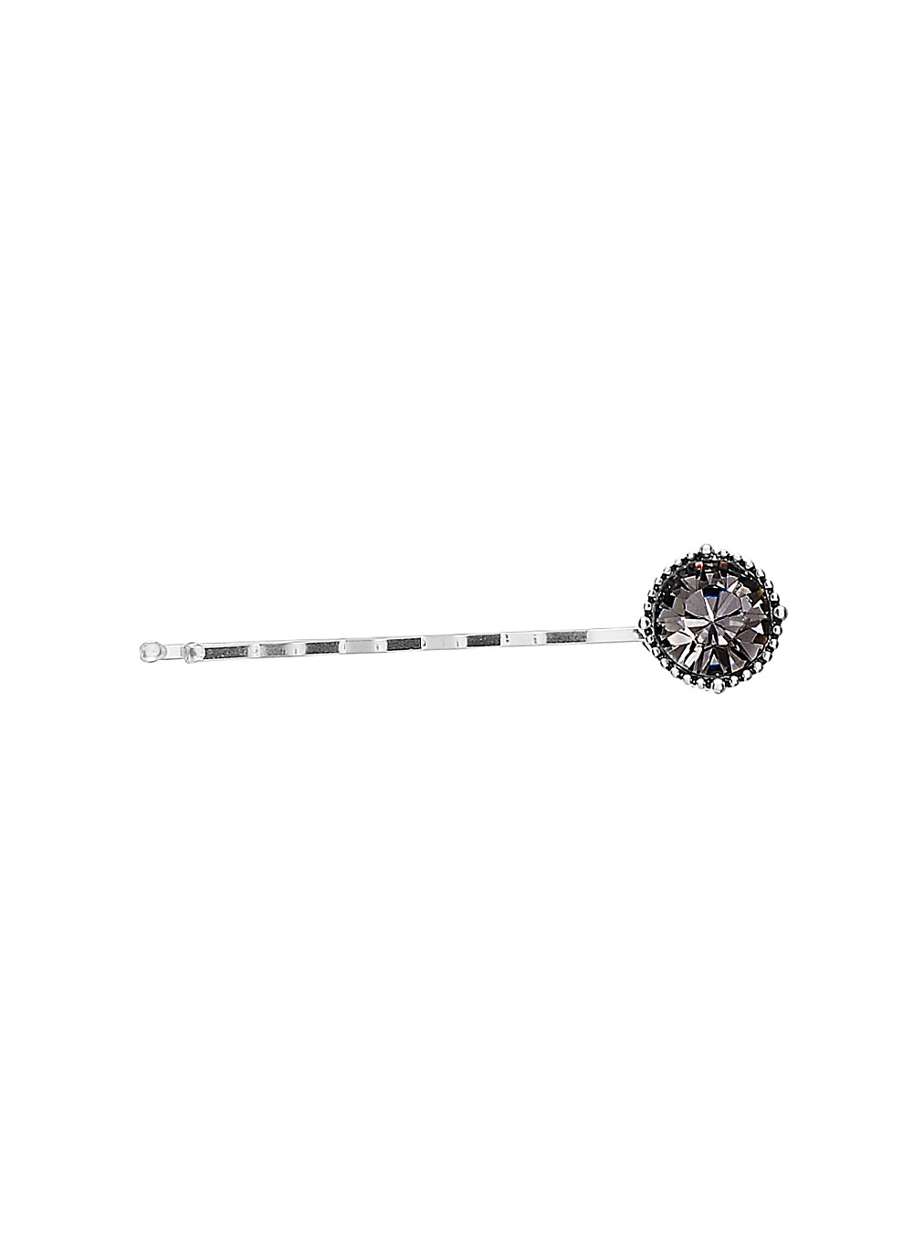PILGRIM Devotion Hair Clip - Silver Plate Black Diamond (Grey) Swarovski Crystals BNWT