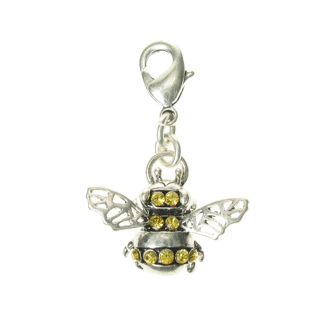 A & C Bumble Bee Silver Plate Charm