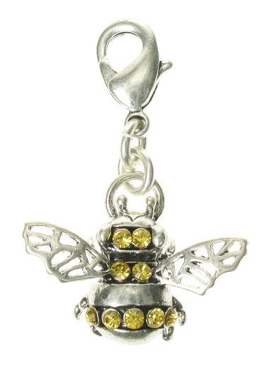 A & C - Bumble Bee Clasp-On Charm Silver Plate