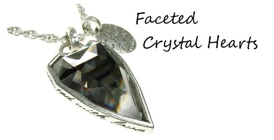 Faceted Crystal Hearts & Jewels