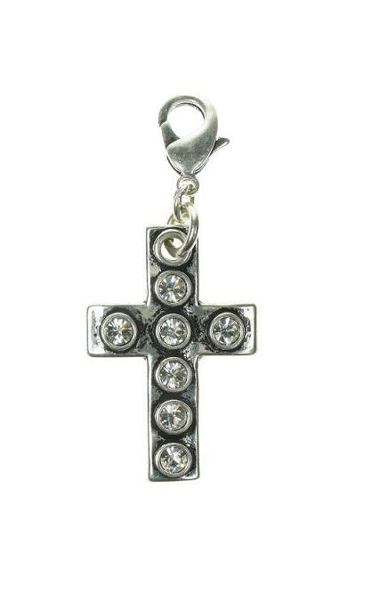 A & C Large Swarovski Crystal Studded Cross Charm