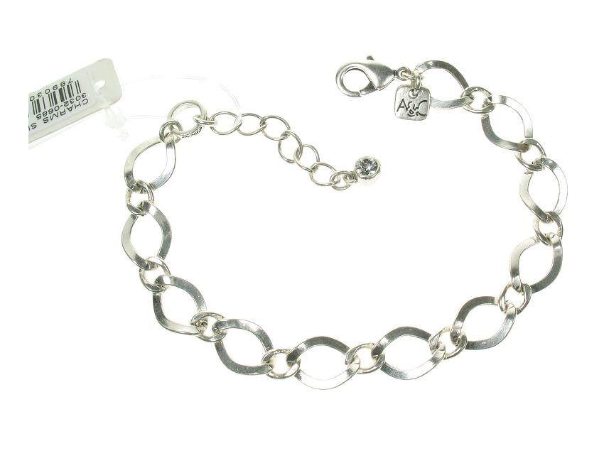 A & C Larger Link Bracelet For Clasp-on Charms