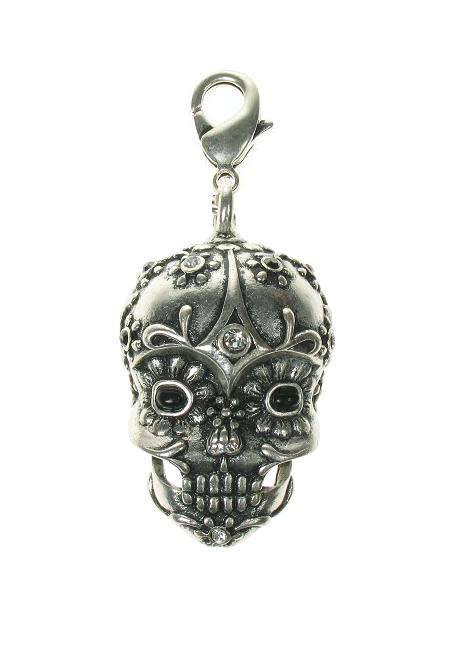 A & C Large Skull 'Day Of The Dead' Charm