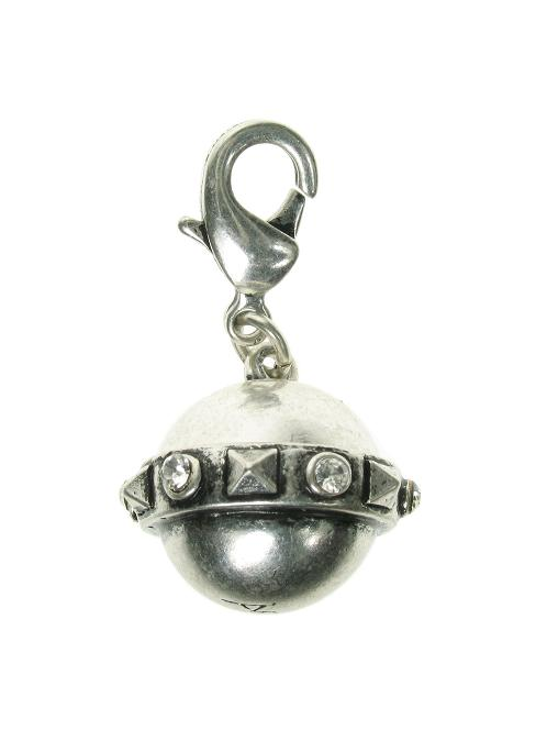 A & C Rings Of Saturn Orb Charm Silver Plate
