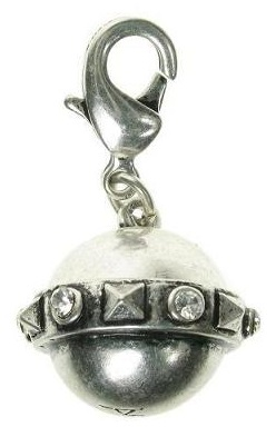 A & C - Rings Of Saturn Orb Clasp-On Charm Silver Plate