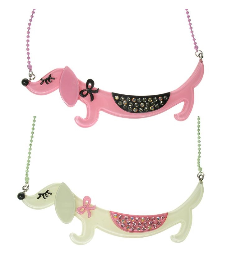 BIG BABY Sausage Dachshund Dog MEGA Necklace