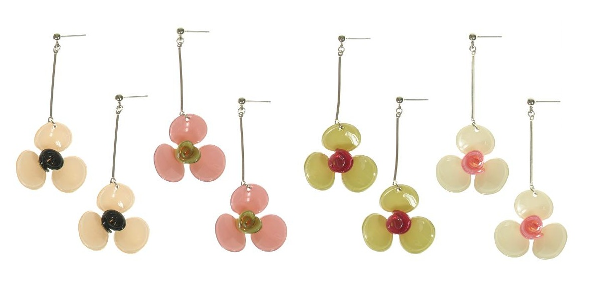 BIG BABY 3-Petal Flower Earrings